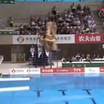 Diving World Series GOLD for Grace Reid with Tom Daley in the...