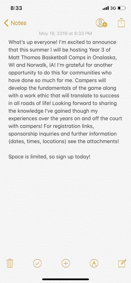 Hope to see you this summer! 👍🏼🏀