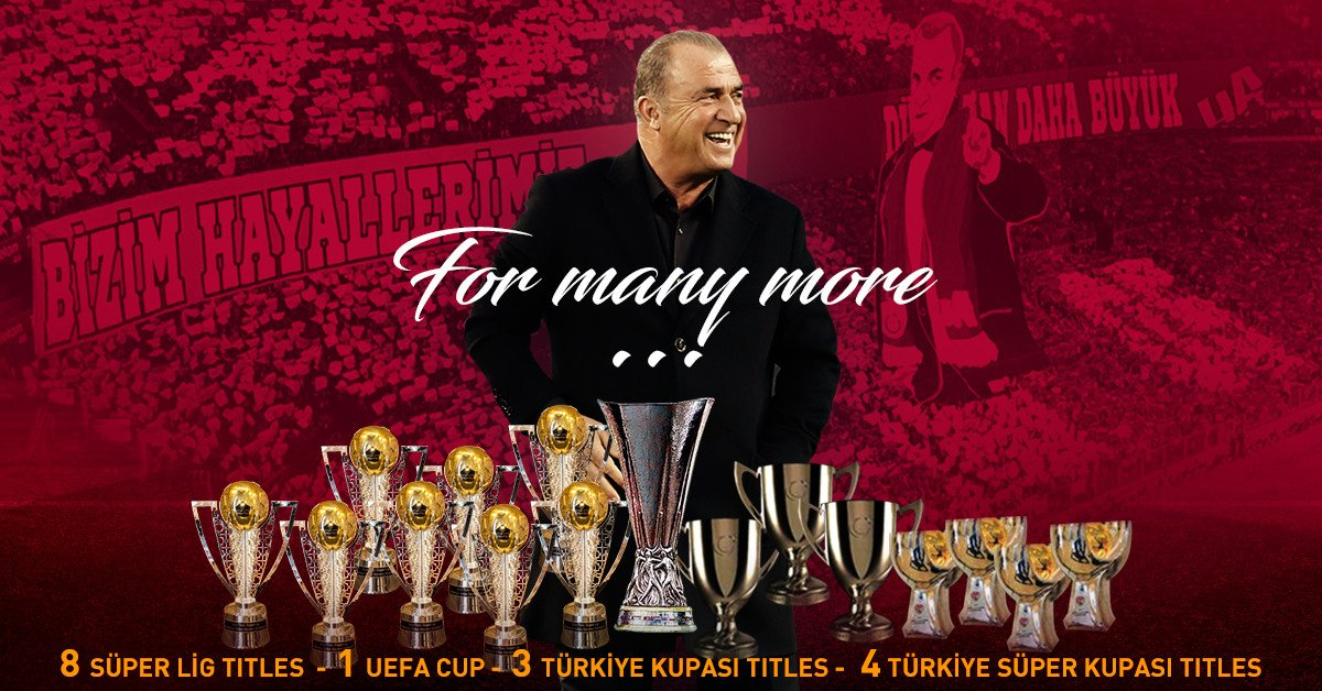 He just keeps on giving...16 titles with @fatihterim now! THE EMPEROR!