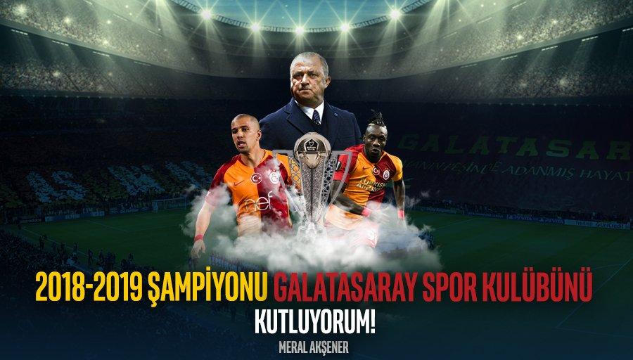 Spor Toto Süper Lig 2018-2019 Lefter Küçükandonyadis sezonu ve Türkiye Kupası Şampiyonu @GalatasaraySK'yı, taraftarlarını, idari ve teknik heyetini kutluyor, Şampiyonlar Ligi'nde ülkemize başarılar kazandırmasını diliyorum.