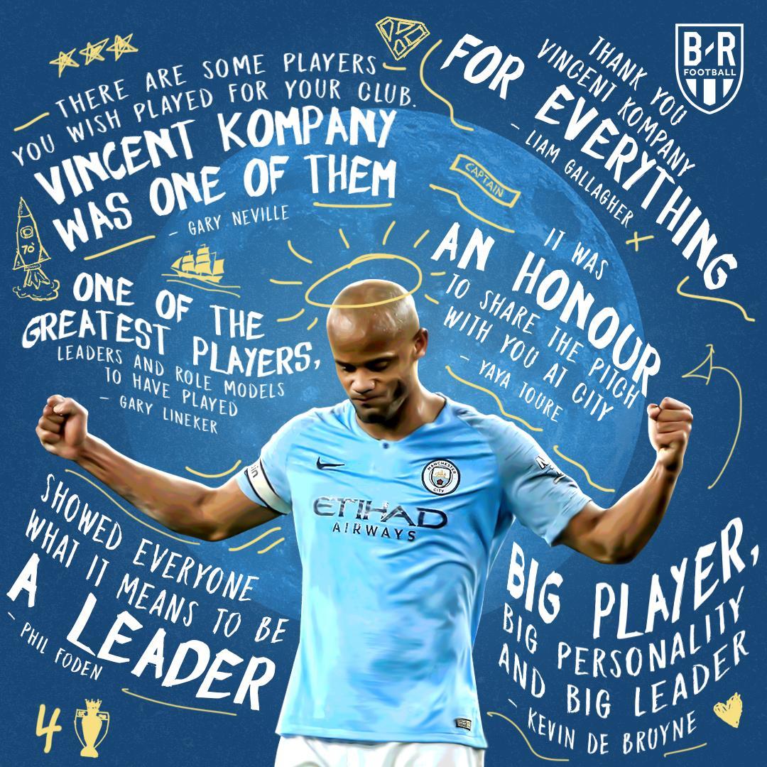 A leader amongst men, @VincentKompany 🙌