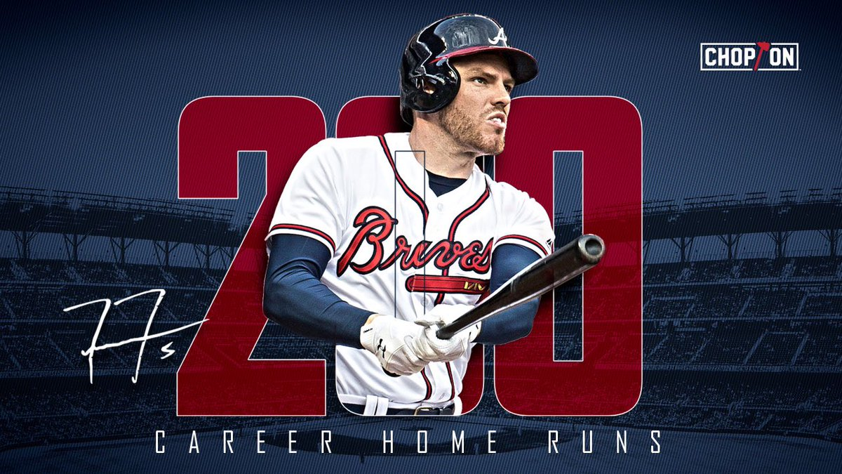 Congratulations to @FreddieFreeman5 for hitting his 200th career home run!