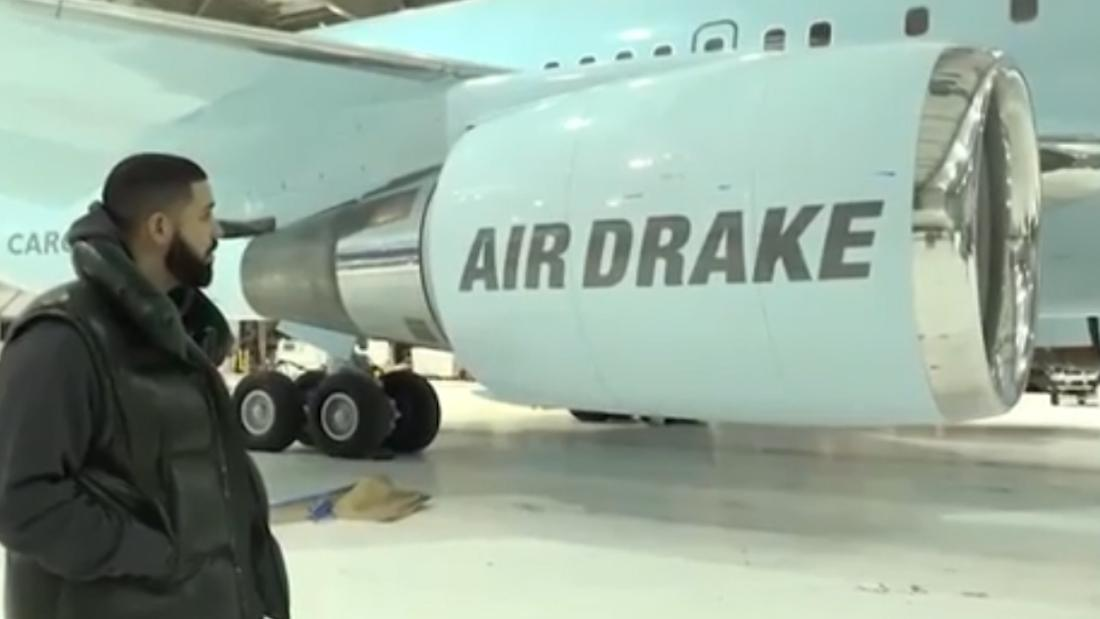 "Rapper Drake announced that he is now the proud owner of a private jet — but this isn't your typical personal plane. The jet's average retail price is a whopping $220 million, and the customized Boeing 767-300F has ""AIR DRAKE"" emblazoned on its engines. https://cnn.it/2HGaBfi"