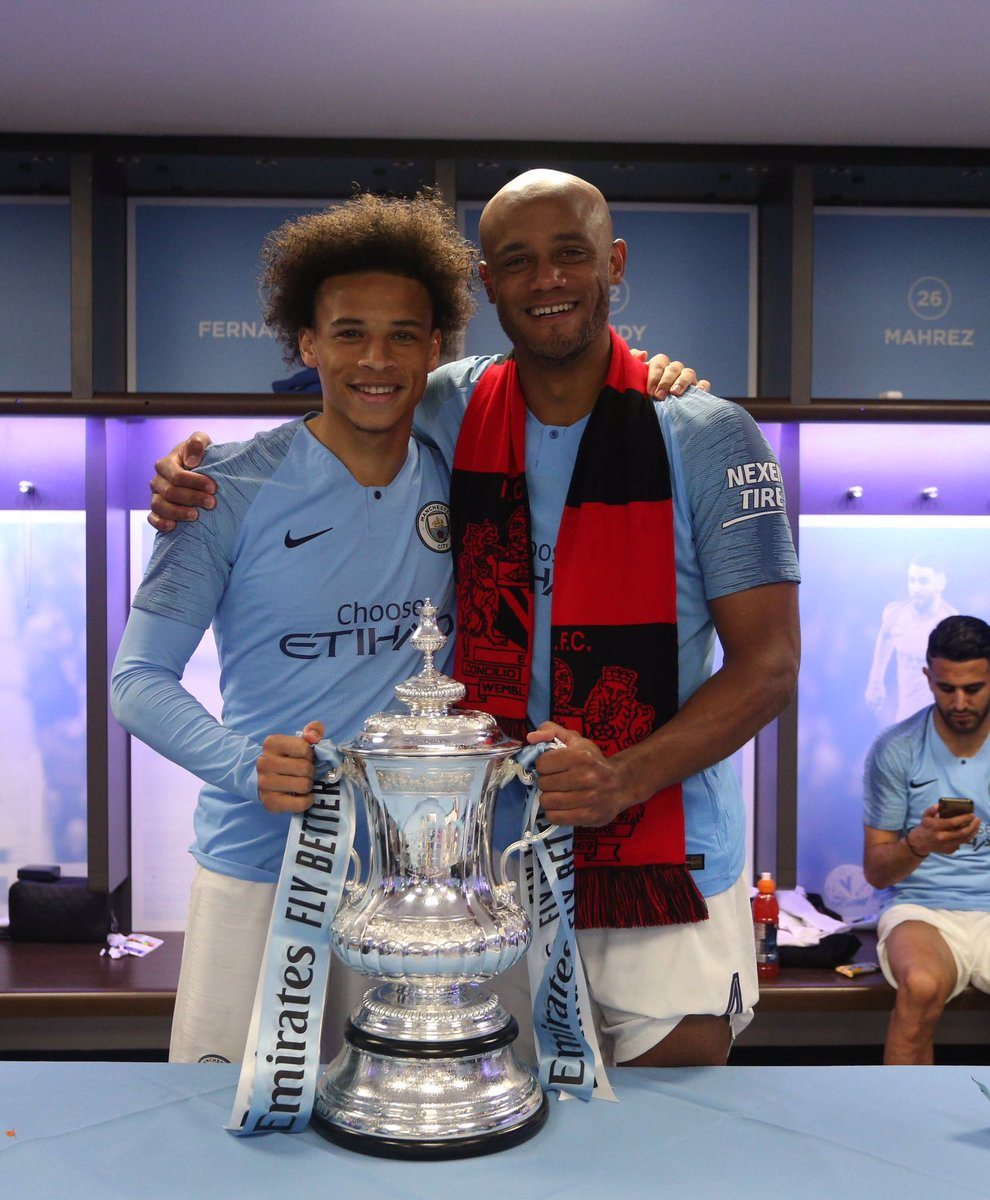 Thank you Captain 🙏🏾 Only the best for your future 🔥⚽🔥 #LS19 #inSané @VincentKompany