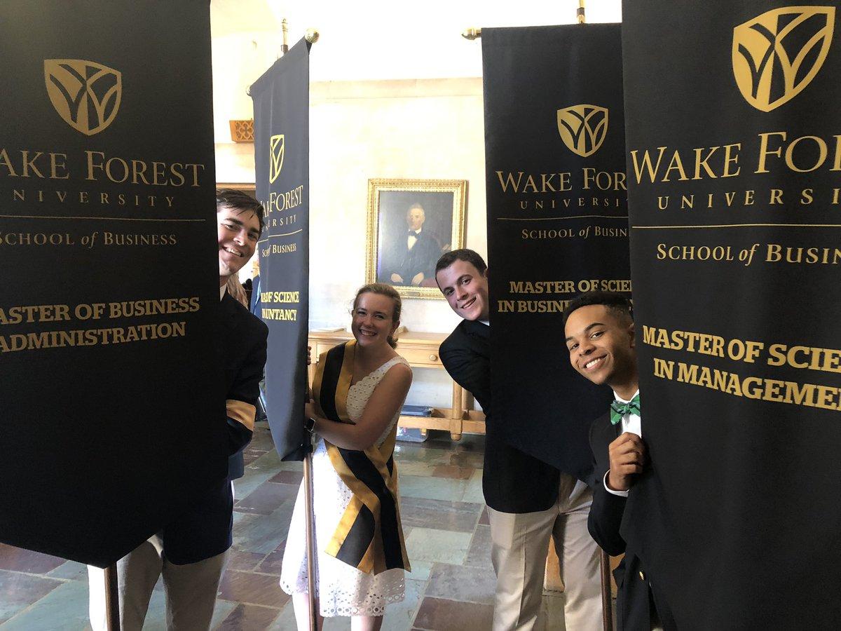 Almost go time at @WakeForestBiz Grad Hooding Ceremony 2019! 😃🎩🎉 #WFUgrad