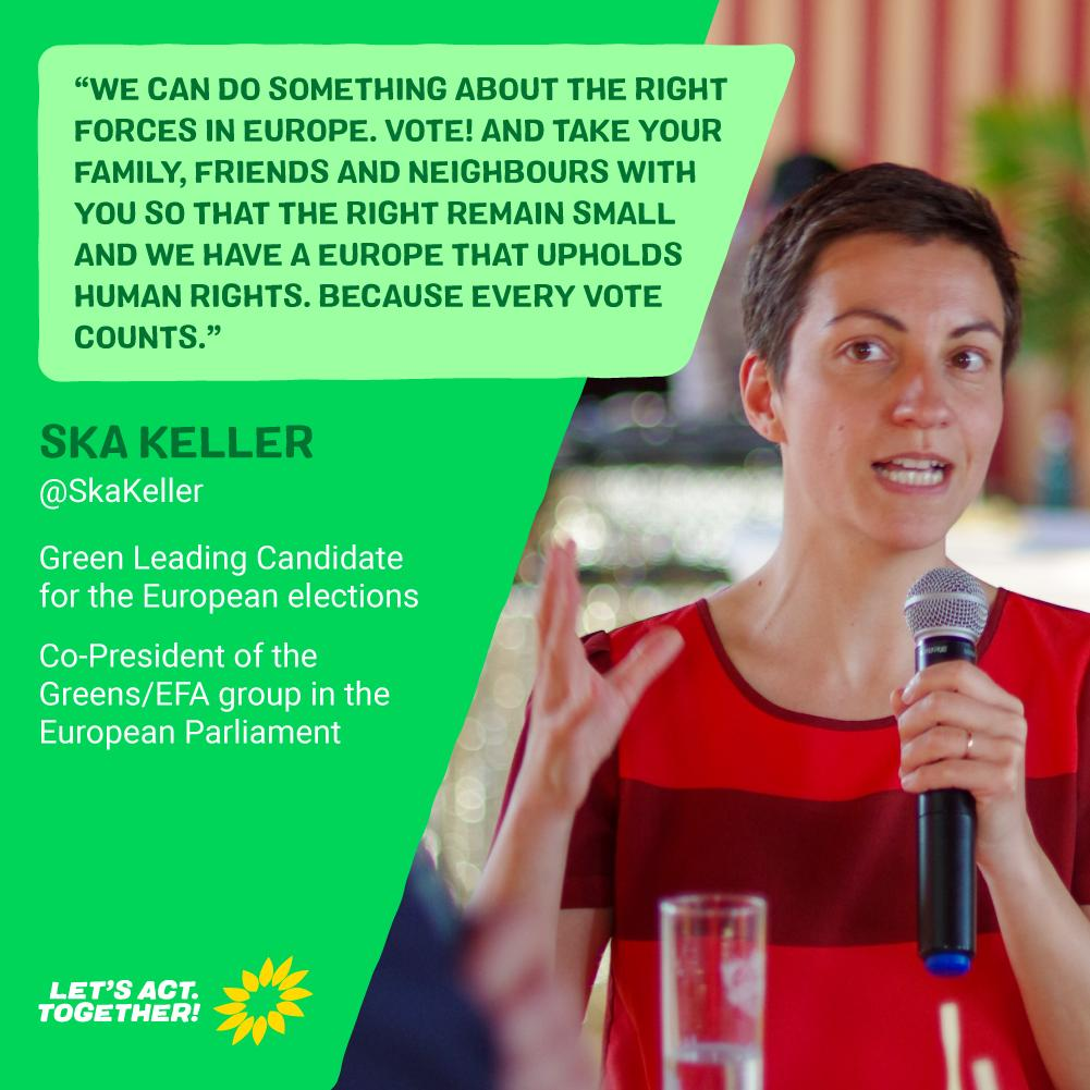 Our leading candidate @SkaKeller is campaigning with the German Greens @Die_Gruenen in Jena this weekend ahead of #EUelections2019 next week. Only If we vote for what we believe in will we be able to change Europe for the better! vote.green #ChangeInTheMaking