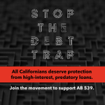 Image for the Tweet beginning: Californians deserve protection from high-interest,