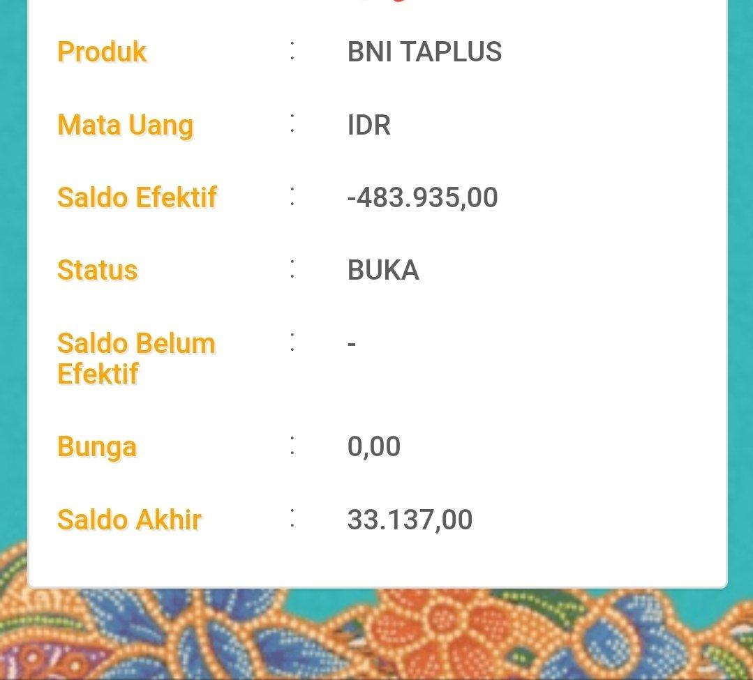 Pt Bank Negara Indonesia Persero Tbk On Twitter Joe Uruha Saldo Efektif Adalah Saldo Yang Bisa Digunakan Oleh Nasabah Setelah Dikurangi Saldo Blokir 1