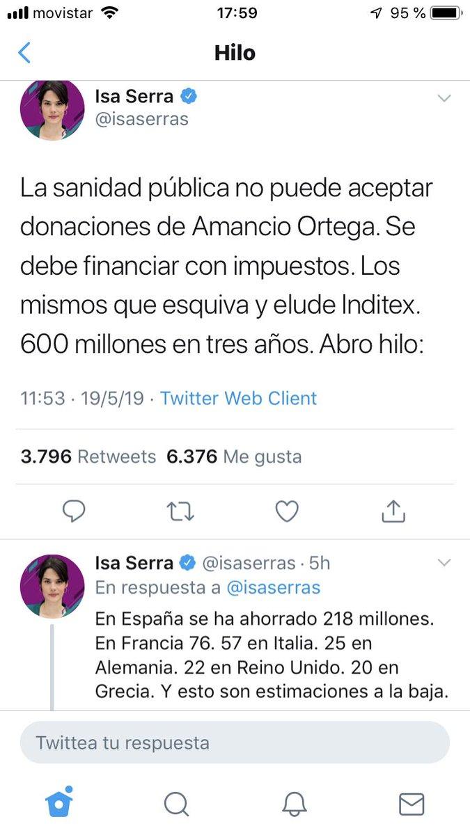Algunos comentarios sobre el hilo de la candidata de Podemos a la presidencia de la Comunidad de Madrid. -1. La sanidad pública claro que puede aceptar donaciones de Amancio Ortega o de cualquiera. Es lo que establece el artículo 23 de la ley de Hacienda de la CAM.