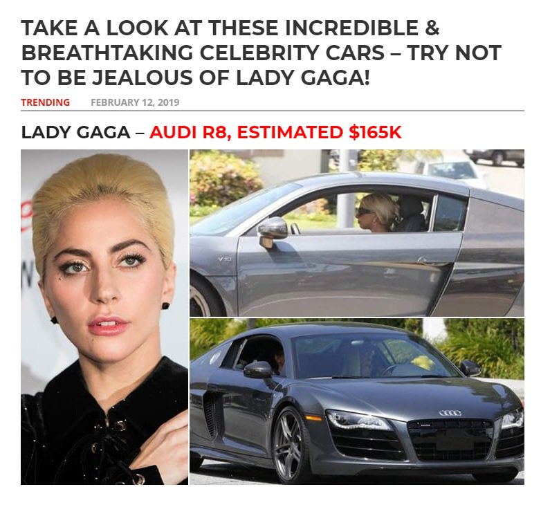 Try not be jealous of Lady Gaga's Audi R8   http://mortgageafterlife.com/trending/celebrity-cars-that-cost-as-much-as-your-house-try-not-to-scratch-lebrons-car/55/ …
