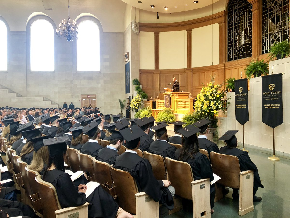 Inspiring and timely words from Mr. Jeffrey A. Davis for @WakeForestBiz program graduates!  What a special weekend @WakeForest for these newest @WFUAlumni. 🎩#WFUGrad