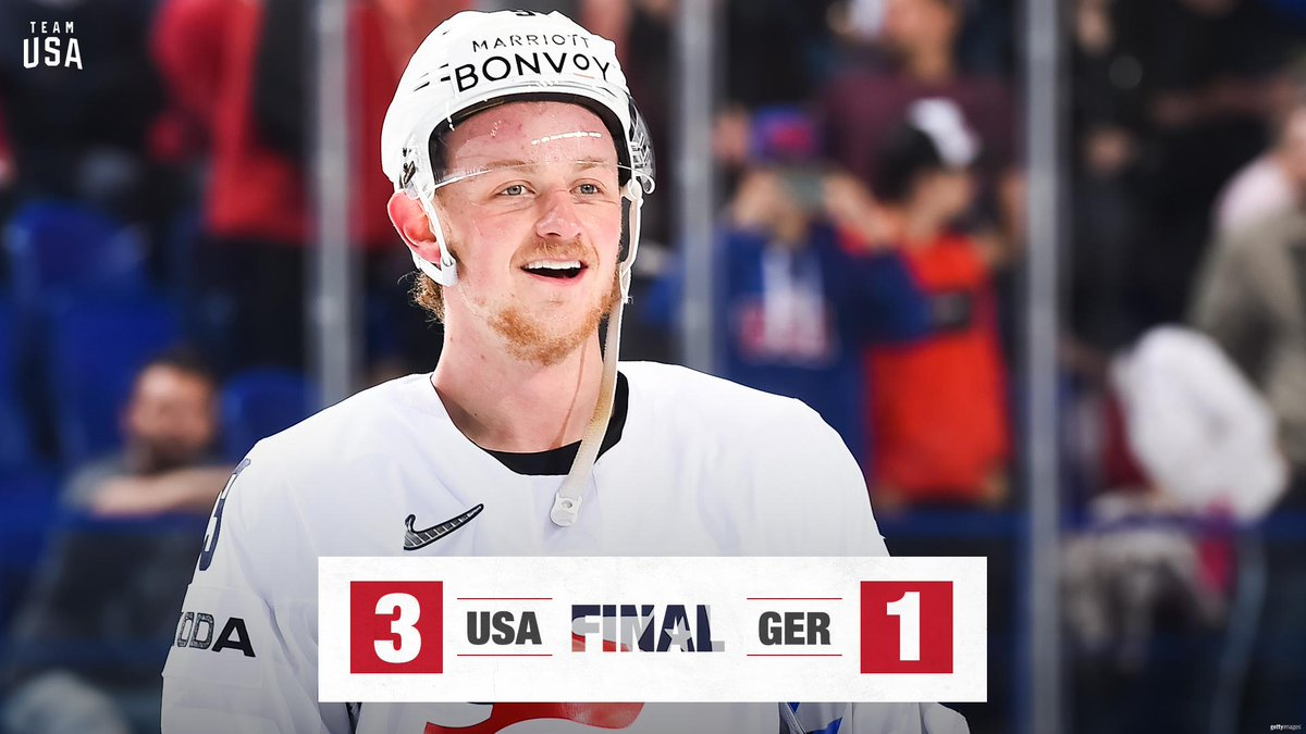 Next stop: Quarterfinals 👊  We're on to Canada.  🇺🇸: 3 🇩🇪: 1  #MensWorlds