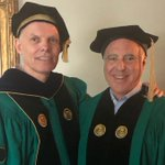 Image for the Tweet beginning: All smiles with @ClarkUniversity President