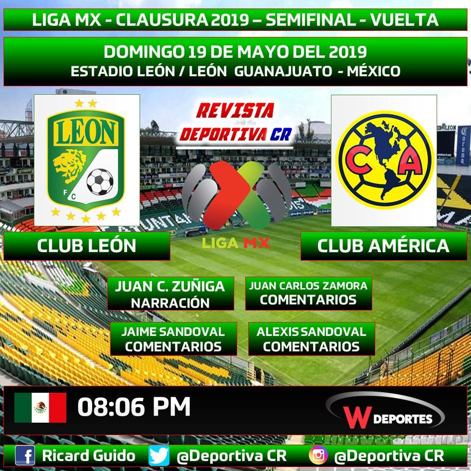 @LIGABancomerMX por @WRADIOMexico @deportesWRADIO @clubleonfc vs @ClubAmerica @JC_Zuniga   @JCZamora07 @jaimesandoval_1 @Alexo_Sando  20:06hrs MEX#LiguillaW#SomosRevistaDeportivaCRDale me encanta y retwittear