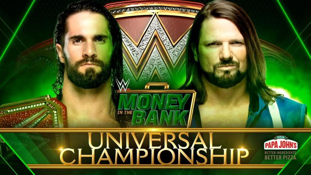 UNiVERSAL CHAMPIONSHIP Money  in the BaNK the phenomenal  Aj style's and Seth Rolins