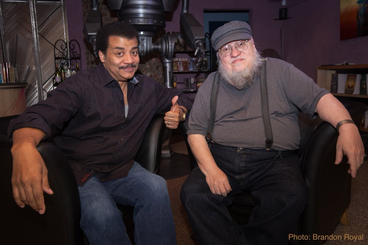 The @StarTalkRadio Interview with George R R Martin (@GRRMspeaking). And yeah, we went there — Dragon breath, his take on graphic violence in @GameOfThrones, and his origins story.  [Audio: 50 min]  https://www.startalkradio.net/show/playing-the-game-of-thrones-with-george-rr-martin/…