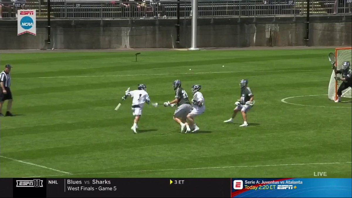 Love Grant Ament's game. Elite passer who is also an explosive athlete with great finishing ability. He is a point machine for @PennStateMLAX @Tewaaraton