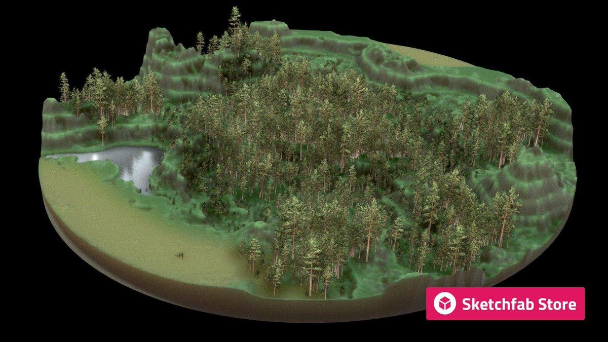 Store staff pick: Pine Billboard Background Trees by VIS-All-3D. Buy it now for your #3D, #AR, or #VR projects: bit.ly/2HzcudP #b3d