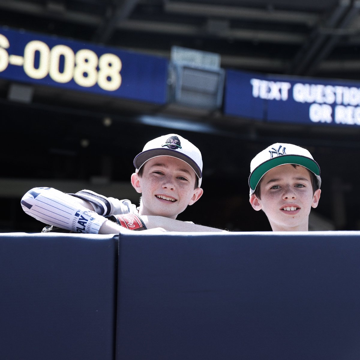 In honor of #PlayBall weekend, the first 10,000 kids, 14 and under, received a Yankees arm sleeve at today's game.