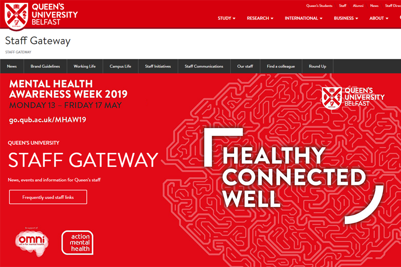It has been another busy period for our hard-working colleagues @QUBstaff. Catch up on the latest staff news on the Staff Gateway, including #MentalHealthAwarenessWeek and recent recognitions/awards: ▶️ Read more: qub.ac.uk/sites/StaffGat… #LoveQUBstaff