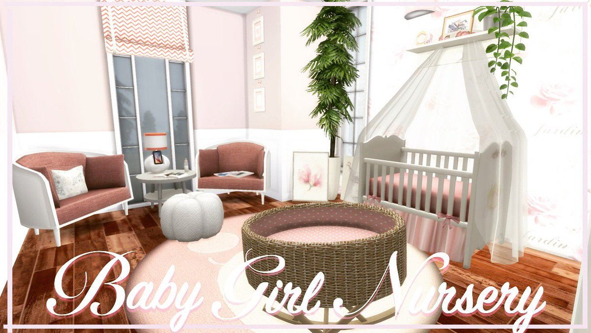 "MiiMundo Sanrei On Twitter: ""El #video Ya Está En Mi Canal, #Baby Girl Nursery    The #Sims 4 Room Build Https://t.co/EyC5CUwMvk #simstagrammer #simstagram #homedecor #sims4ccbuilds #sims4 #simscc #sims #sims4house #simstagram #thesims4 #thesims4build #"