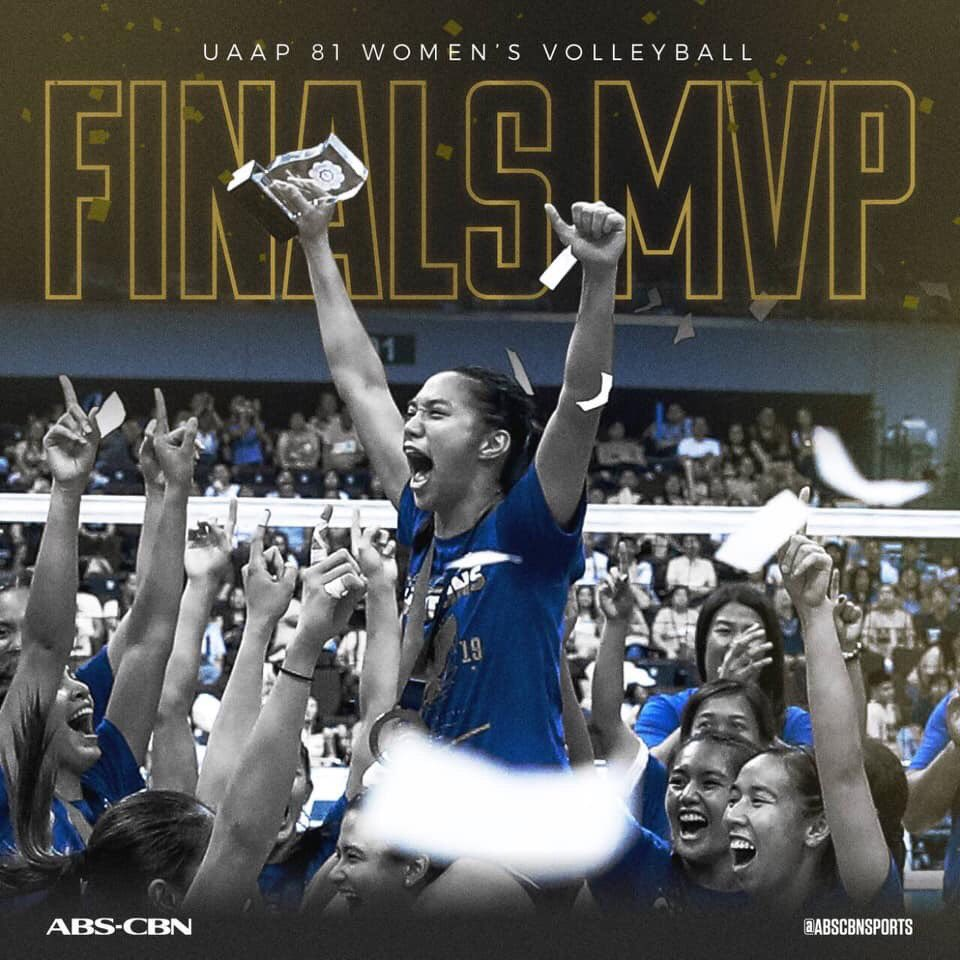 Still on cloud nine after the championship run 👑 Congratulations @_beadel , our Finals MVP! ❤️ Beyond all the awards and accomplishments, your passion for the sport and love for the whole volleyball community has made you the real MVP on and off the court. Fly high, Kapitana! 🦅