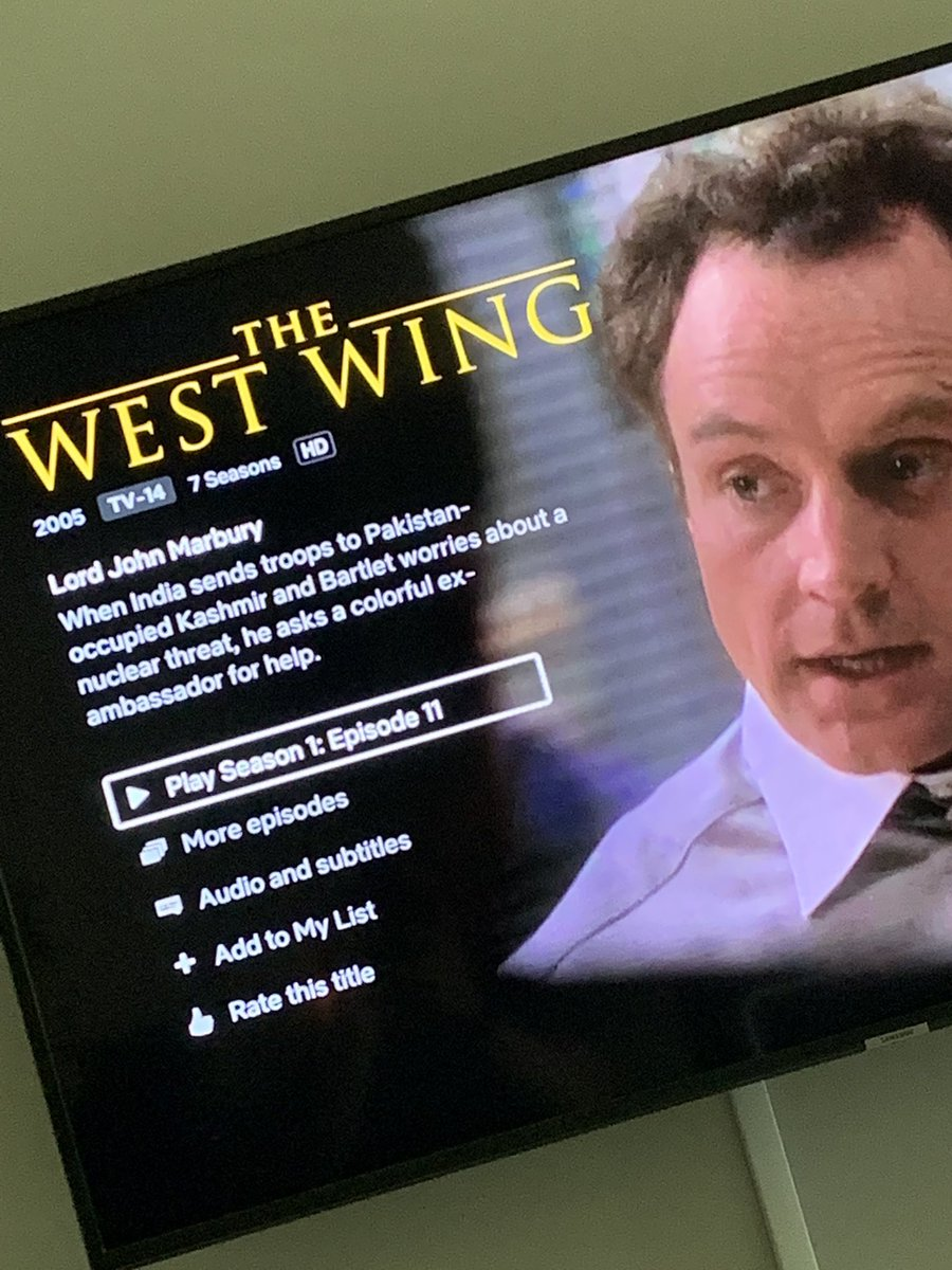 11dc48d9580 This show is as prescient and timely today as it was 20 yrs ago. Reboot?  President Lyman?pic.twitter.com/VI1kKW2Zof