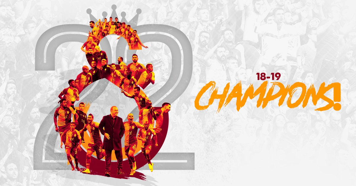 Your dreams are our cliché.For the 22nd time...Galatasaray are the #CHAMPIONS of Turkey!