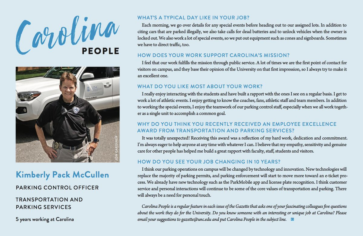 No event at #UNC is too large for Kimberly Pack McCullen and the rest of the @MoveUNC team to handle. Learn how she delivers a personal touch to parking operations 🚗 (via @univgazette) https://t.co/woKlyakiAZ