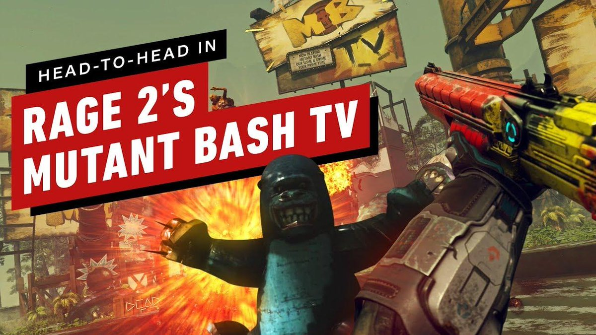 We go head-to-head to see who can get the highest score in Rage 2s Mutant Bash TV! Let the mutie smashing commence. bit.ly/2WUjc4v