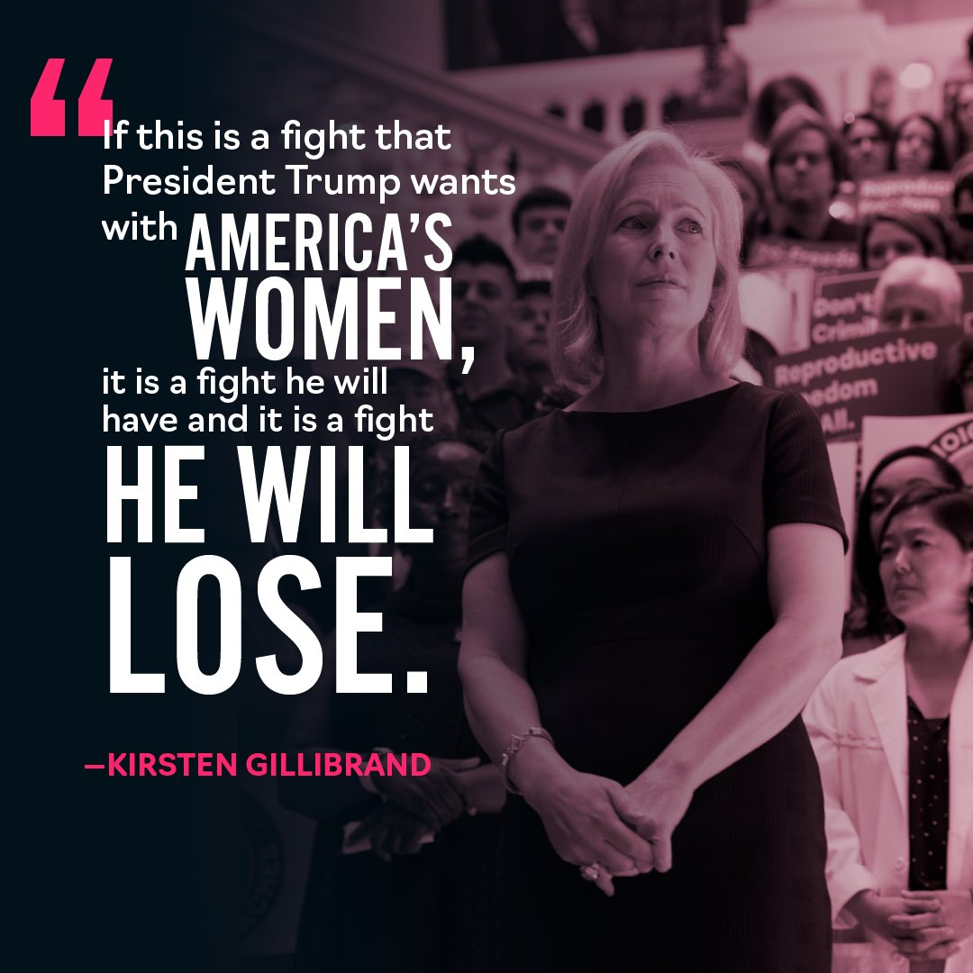 What we're seeing from the president and in states across the country is an assault on reproductive rights. But we saw in Georgia exactly how we're going to win this fight: Side by side, lifting each other up. We know what's at stake, and we won't lose. https://medium.com/@SenGillibrand/why-i-went-to-the-frontlines-of-the-assault-on-abortion-rights-and-what-ill-do-about-it-d2c14c30e1e7…