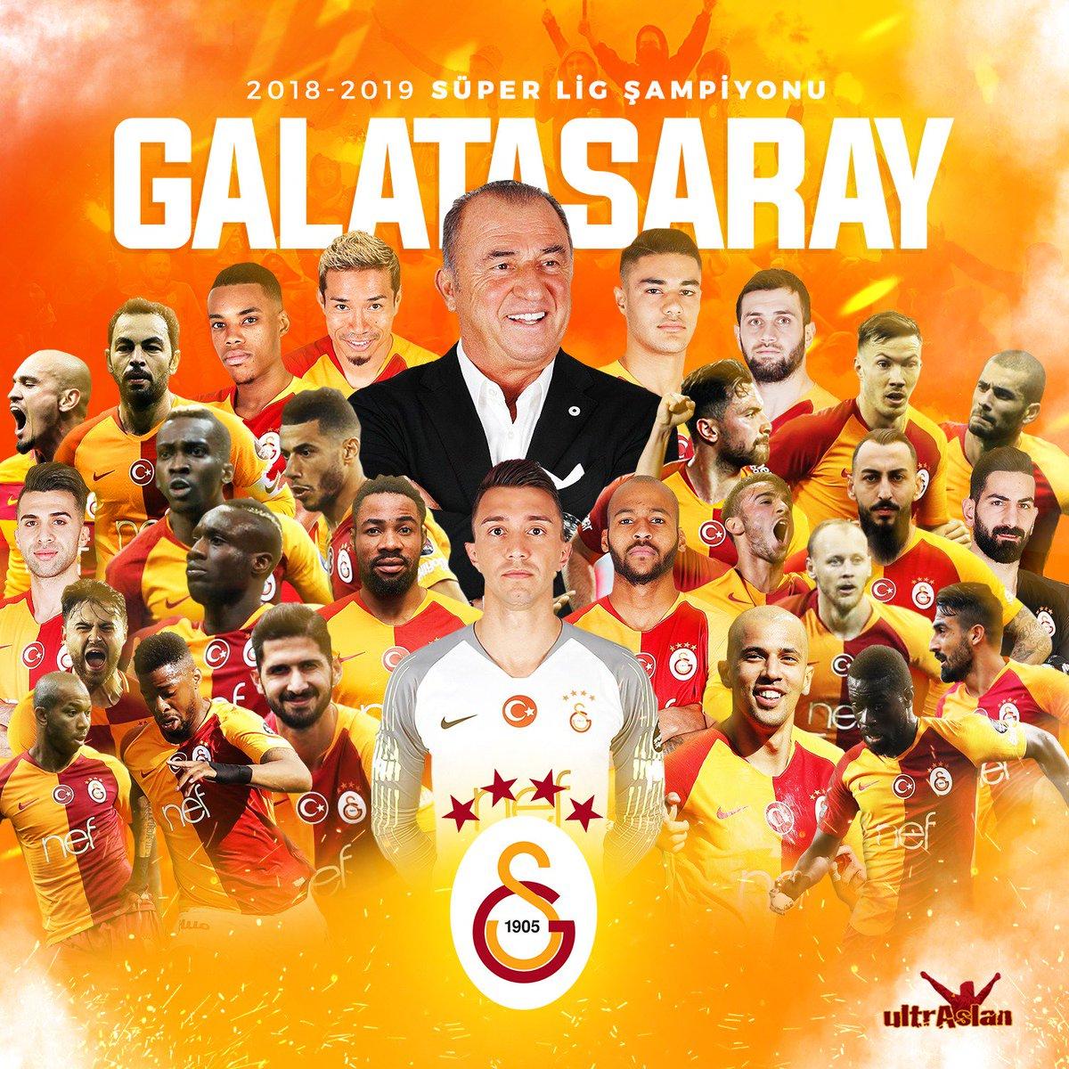 2018 - 2019 SEZONU SÜPER LİG ŞAMPİYONU  G A L A T A S A R A Y  #ultrAslan