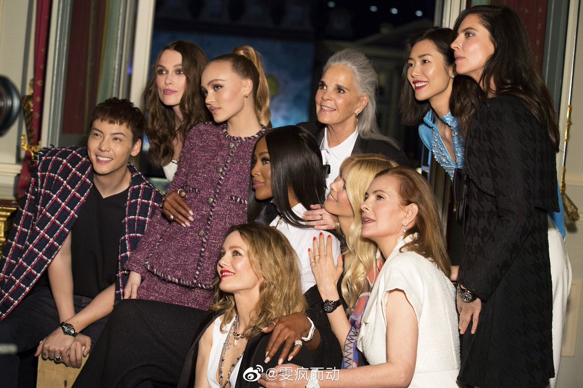 The ambassadors and faces of #CHANELWatches #thenewJ12 at cocktail party🍸 #WilliamChan #williamchanwaiting #LiuWen #keiraknightley #LilyRoseDepp #NaomiCampbell #AliMacGraw #VanessaParadis #AnnaMouglalis #ClaudiSchiff #CaroleBouquet