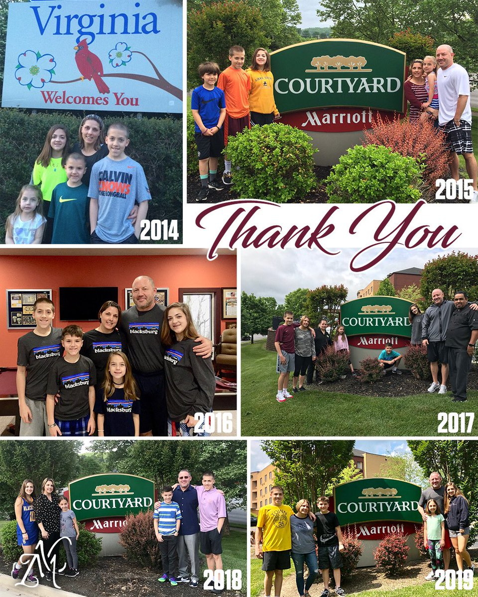 ago today we moved to Virginia. Each year since, except 1, we took a family  on May 19th @CourtyardHotels to remind us of where we lived initially  As we leave today, it's impossible to articulate how grateful each of us are for our  here personally professionally!<br>http://pic.twitter.com/PL9SK3Sloc