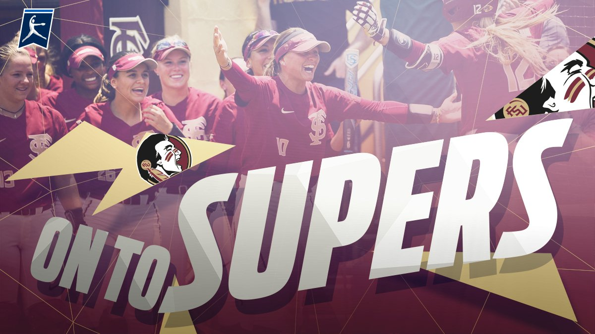 SUPER SEMINOLES!!!   (4) @FSU_Softball wins a thriller with South Carolina, 7-6, to cap an undefeated weekend in Tallahassee.   #NCAASoftball<br>http://pic.twitter.com/ac16dODTfc