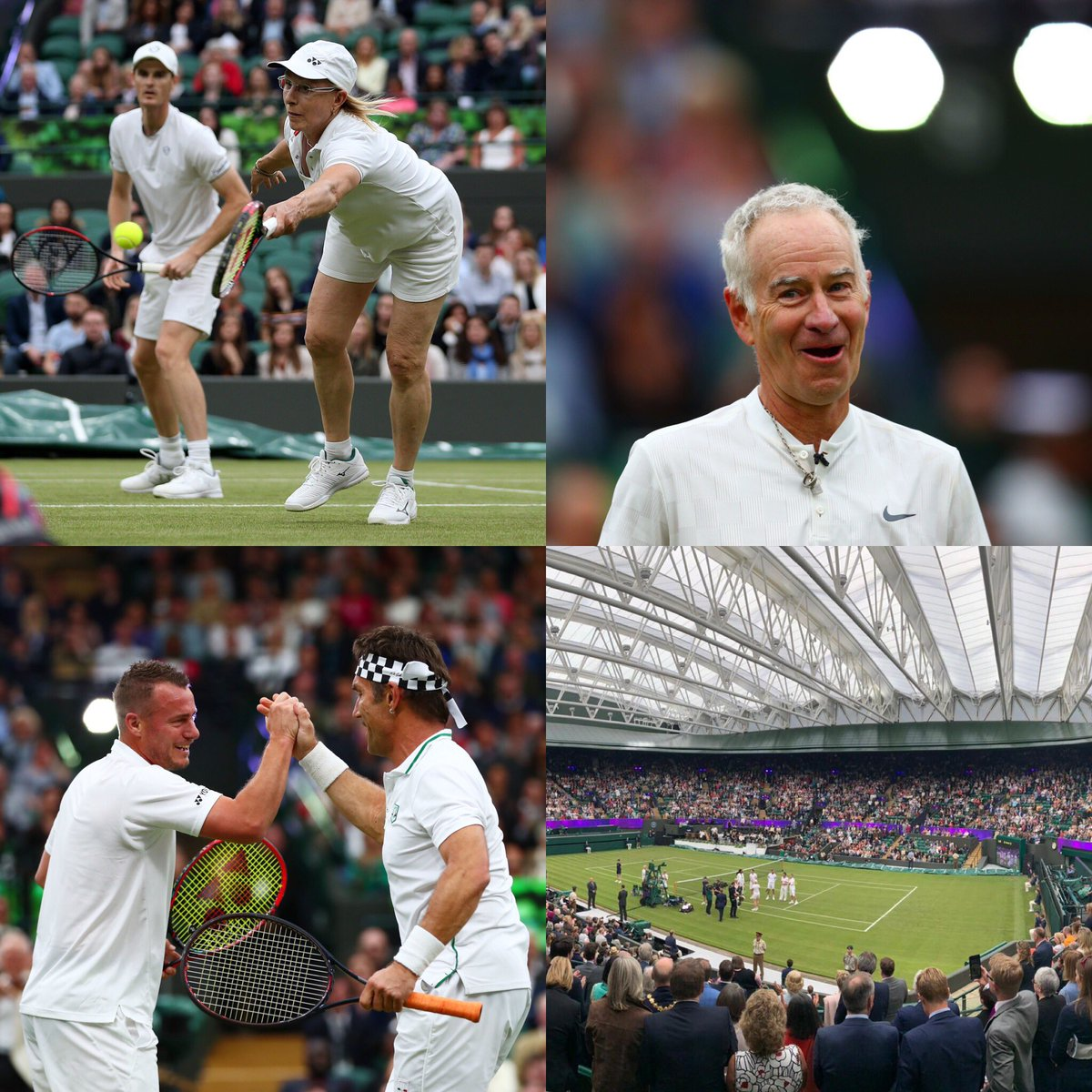 Amazing Experience to be part of the @wimbledon court 1 roof opening.  So much fun to be on court with these legends of the game! #wimbledon #tennis