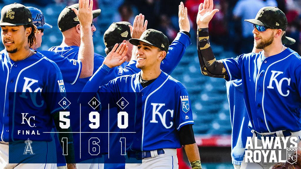 RECAP: #Royals grab a victory in series finale against Angels behind another quality start from Duffy. #AlwaysRoyalhttps://atmlb.com/2LVzl8U