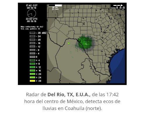 En las siguientes tres horas, se pronóstica#Lluvia con intervalos de #Chubascosacompañados deactividad elécticaen #Coahuila (norte).https://smn.cna.gob.mx/es/pronosticos/avisos/aviso-de-potencial-de-tormentas…