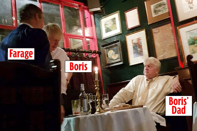 This is very very odd. It appears that Farage met both Boris Johnson and George Cottrell in London in November. Since it has many of the same donors and Bannon as adviser, Im pretty sure the Boris and Brexit Party campaign are in cahoots. But a convicted money launderer?