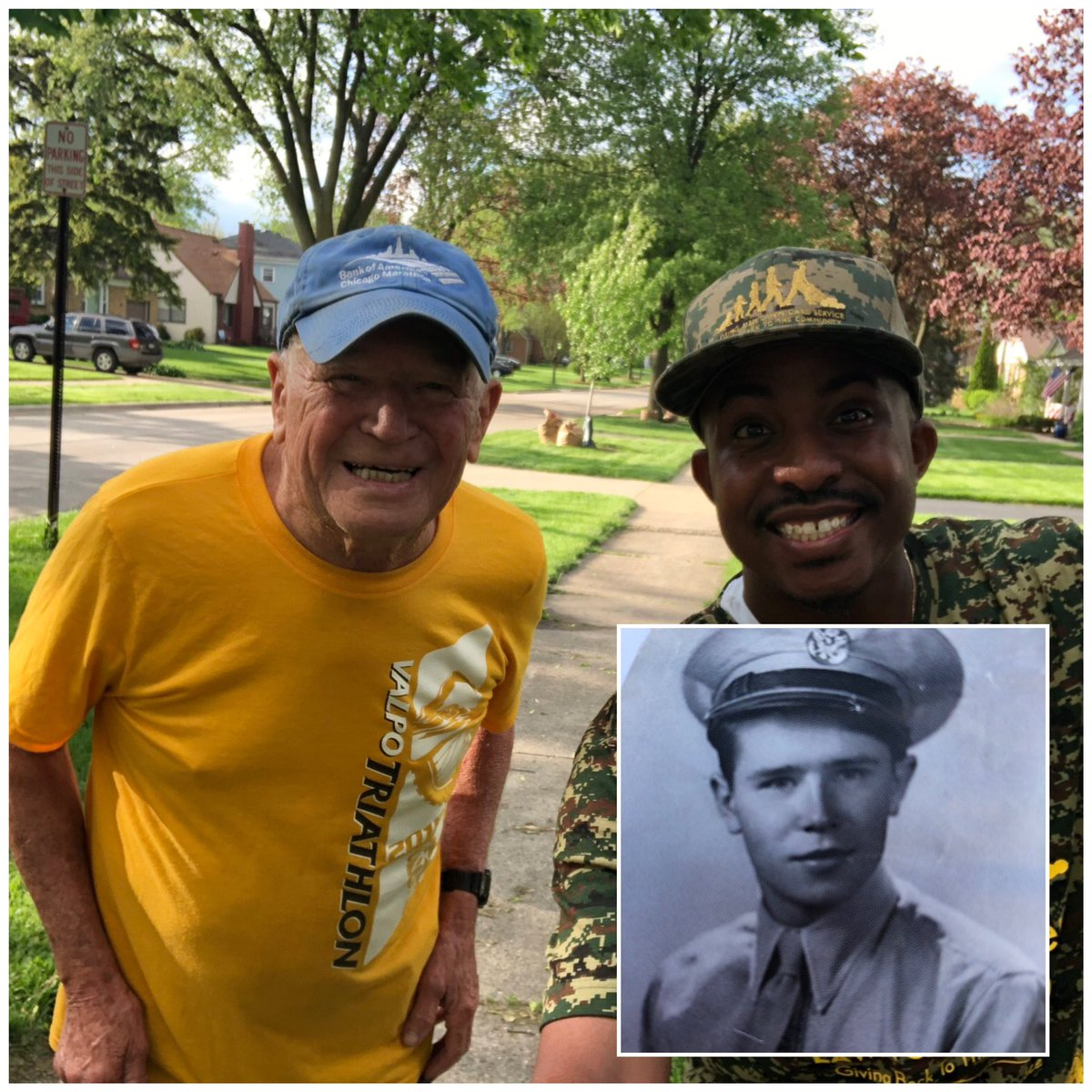 I just had the honor &amp; privilege of mowing for Mr. McKeague in Villa Park,IL. He fought in world war 2. He was drafted at 18 and was a gunner in a tank ! It was such an honor talking to him and learning about his time in WW2. Thank you for your service &amp; sacrifice <br>http://pic.twitter.com/EbNSNfAGrl