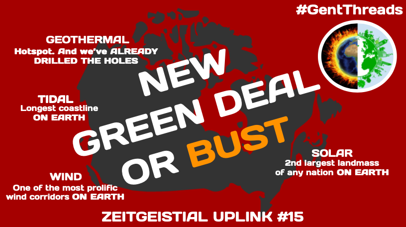 Anything short of a full tilt  #GreenNewDeal with a WW2 levelled footing to confront the  #ClimateCrisis & we inevitably, utterly, shamefully fail our children & grandchildren. The task is mighty but we have the tools. Human up. THREAD  #GentThreads  #cdnpoli  #abpoli  @GreenNewDealCa1