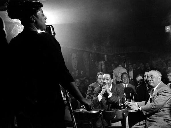 Ella Fitzgerald, Duke Ellington, Benny Goodman, Richard Rogers, New York, 1948: <br>http://pic.twitter.com/1ueZJuI0fC