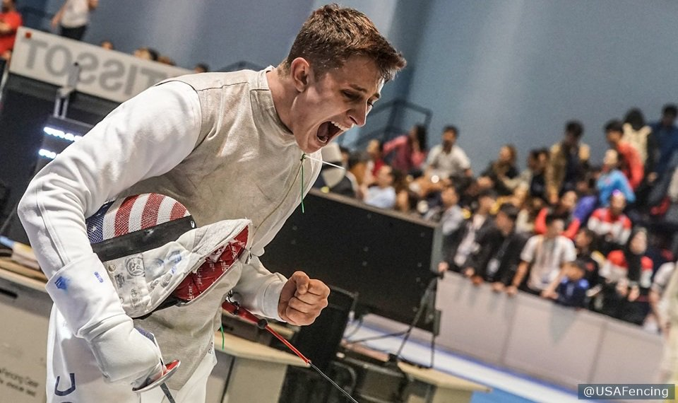 Wrapping up Grand Prix season on a high note 🙌  - Nick Itkin 🥈 - @leetothekiefer 🥉  More from @USAFencing's weekend in Shanghai  » http://go.teamusa.org/2HBbNAE