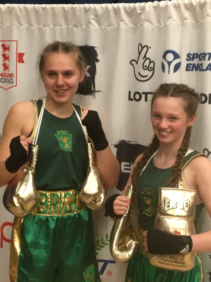Two great victories this weekend in Crawley, Abby Briggs and Kayla Holdsworth's won the National Schools Championships #girlpower 💚💛