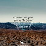 Image for the Tweet beginning: The fear of the Lord