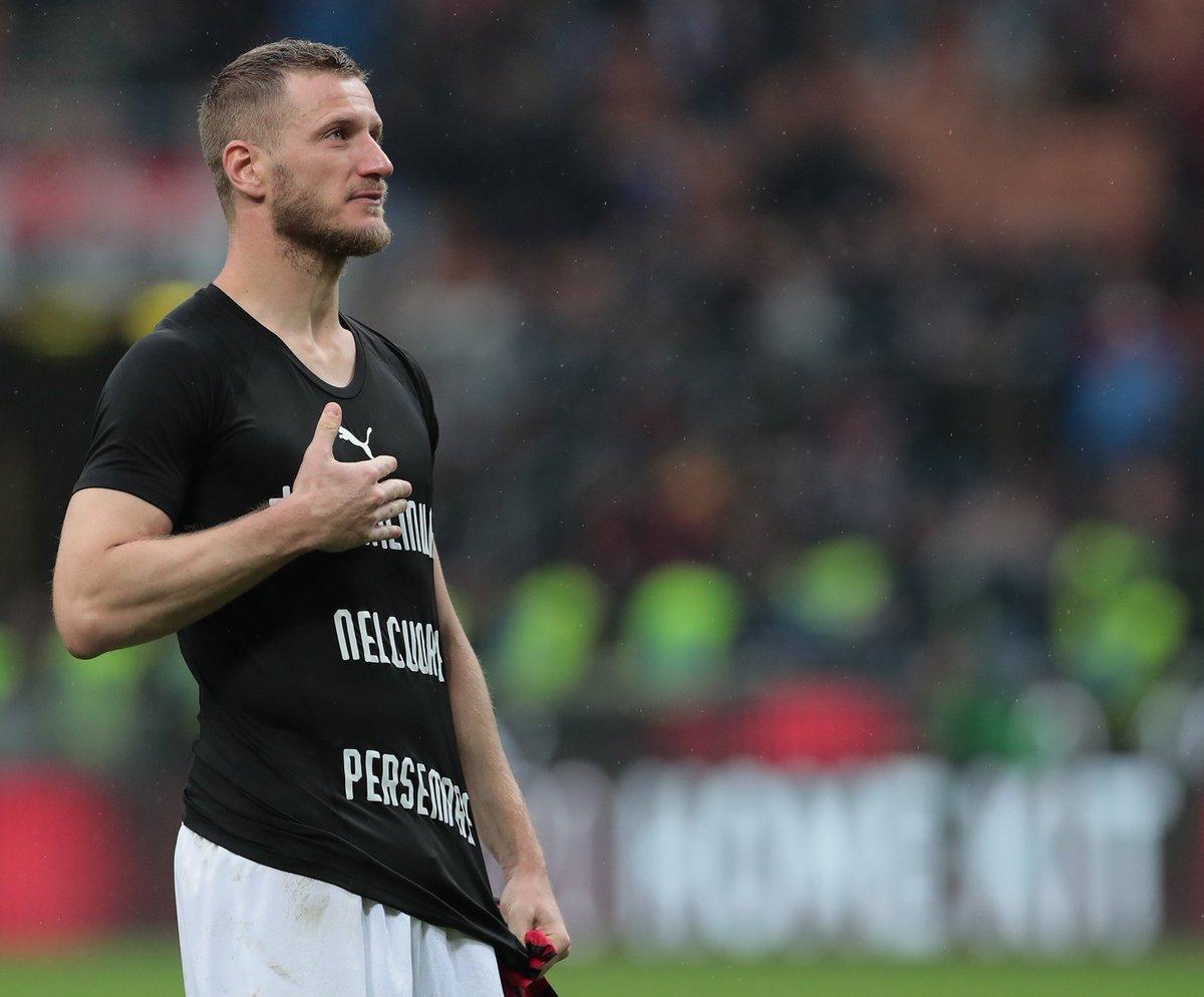 Ignazio Abate said a tearful goodbye to the San Siro today in his last game for boyhood club AC Milan 🔴⚫😢