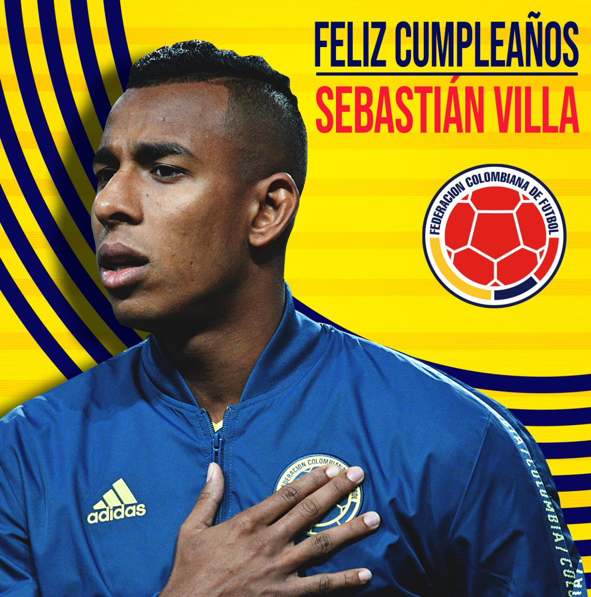 Feliz cumpleaños #️⃣2️⃣3️⃣ para Sebastián Villa. ¡Que sean muchos más! 🎂⚽️