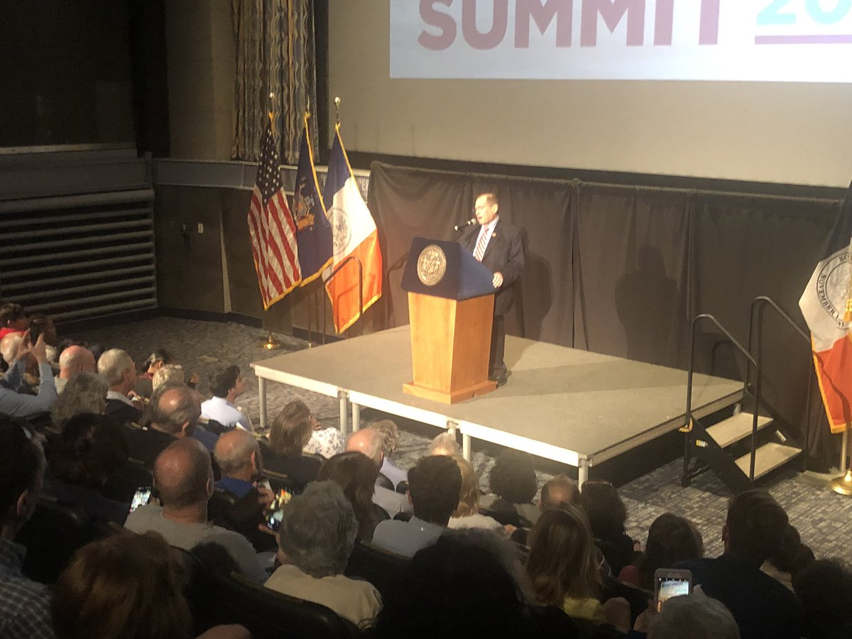 TY @NYCSpeakerCoJo for inviting me to speak at your West Side Summit.  You are a terrific partner on so many important local issues such as transportation, parks, schools and housing that are so important to NYC and our constituents.