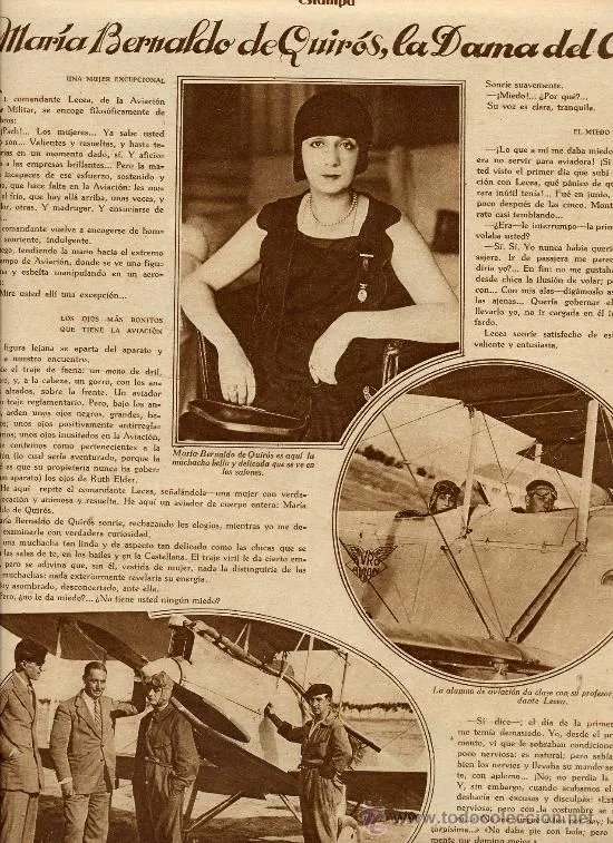 Terminamos la #MuseumWeek2019 como la empezamos, con el hashtag #WomenInCulture. María Bernaldo de Quirós Bustillo fue la primera mujer española en conseguir el título de piloto de avión. 👩✈️ El 7 de octubre de 1928 realizó su suelta o primer vuelo en solitario. 🛩️