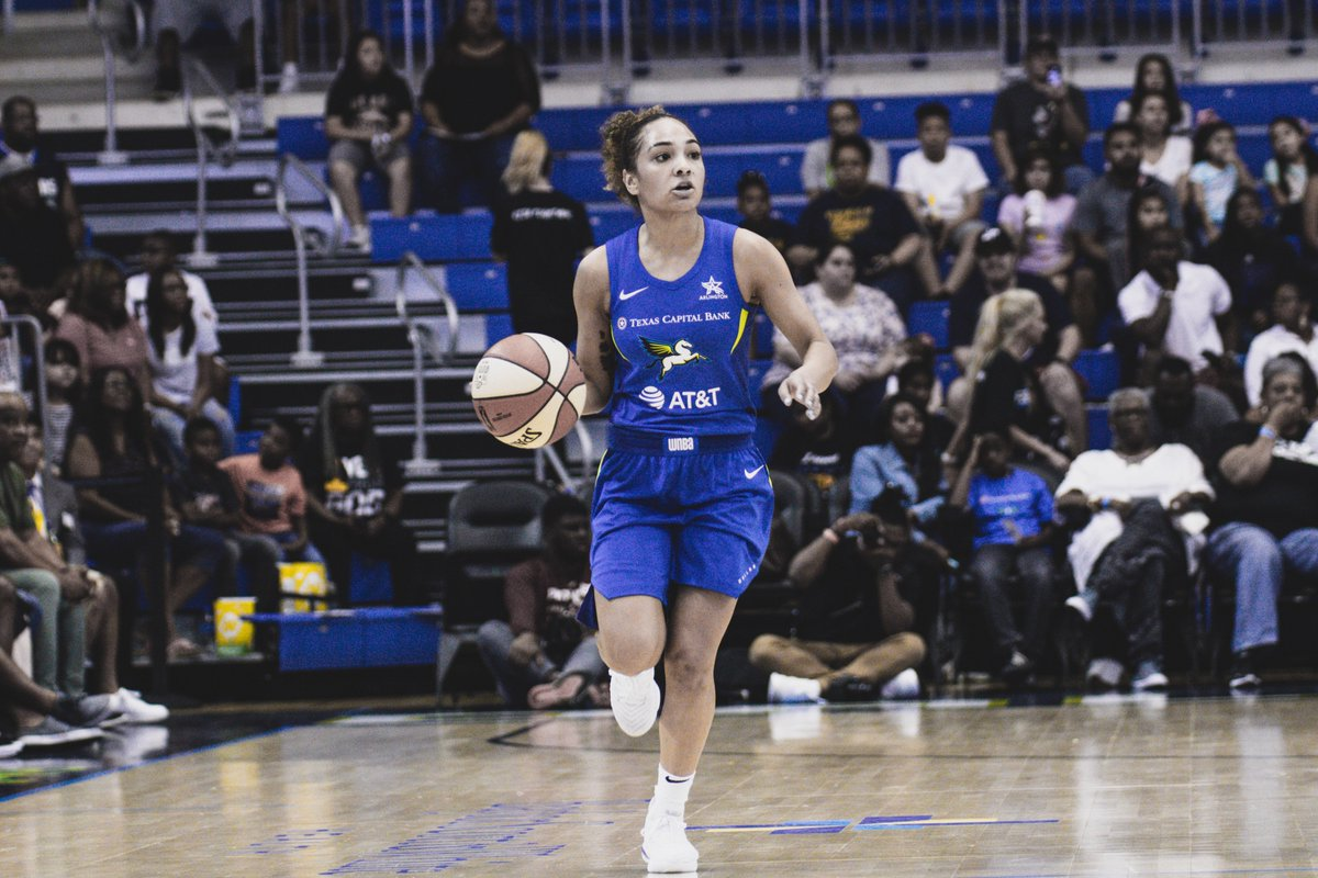 With 5:11 left in the 3rd quarter, the Wings still lead the Fever 48-36.   @brooke_bun still making her presence known with 10 PTS. #Together